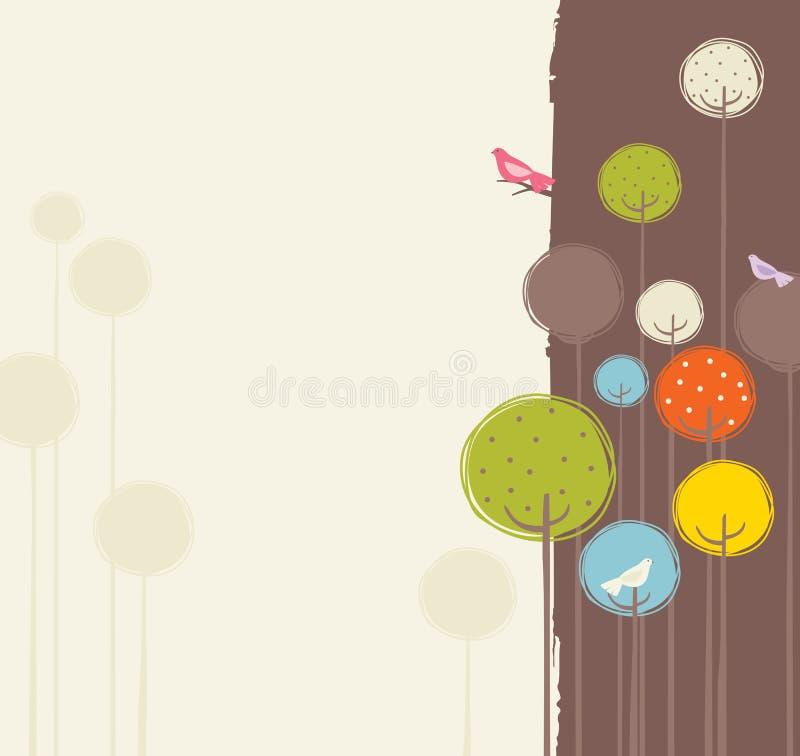 αναδρομική άνοιξη σχεδίο&ups απεικόνιση αποθεμάτων