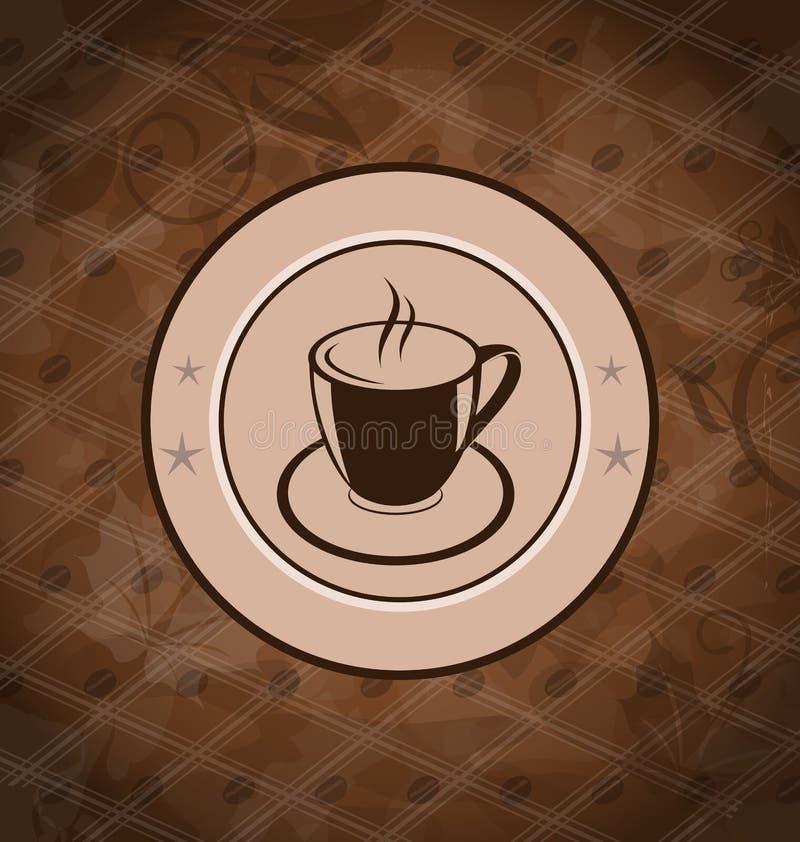 Αναδρομική ανασκόπηση με την κούπα καφέ απεικόνιση αποθεμάτων