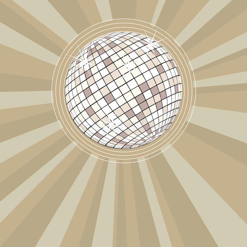 Αναδρομική ανασκόπηση συμβαλλόμενων μερών με τη σφαίρα disco διανυσματική απεικόνιση