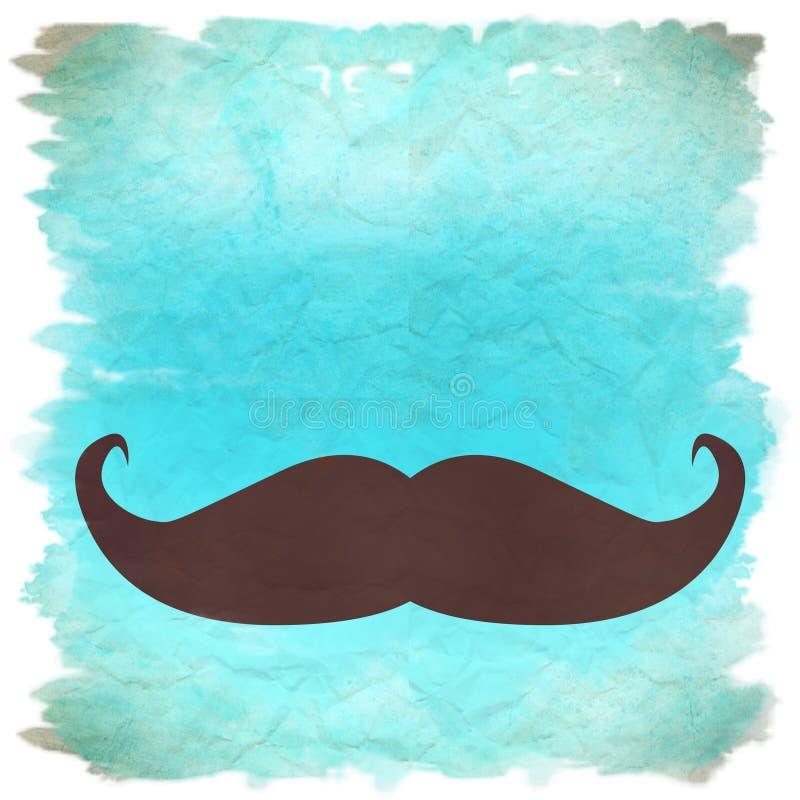 Αναδρομική ανασκόπηση Moustache απεικόνιση αποθεμάτων