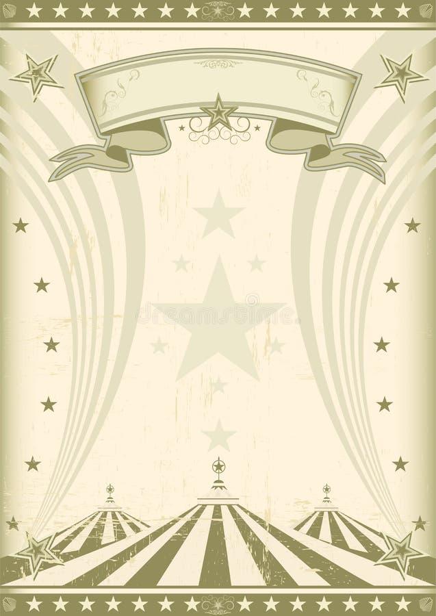 Αναδρομική αφίσα τσίρκων ουράνιων τόξων απεικόνιση αποθεμάτων
