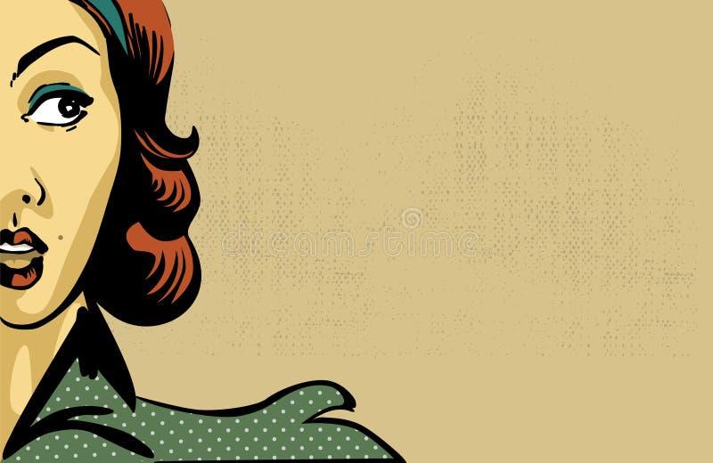 αναδρομική γυναίκα διανυσματική απεικόνιση
