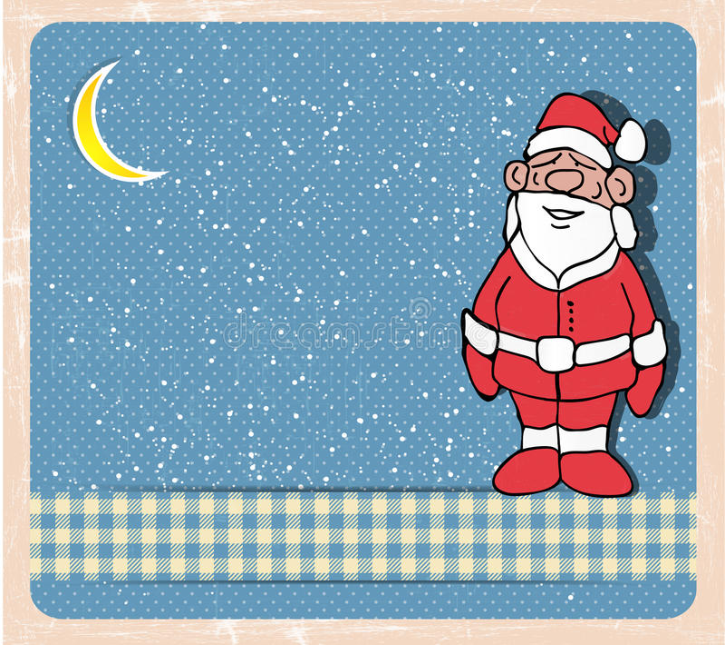 Αναδρομική κάρτα Χριστουγέννων απεικόνιση αποθεμάτων