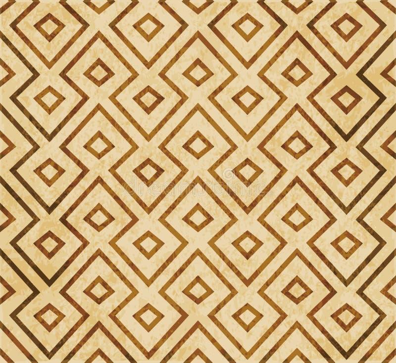 Αναδρομική καφετιά Ισλάμ άνευ ραφής γεωμετρίας σχεδίων διακόσμηση ύφους υποβάθρου ανατολική ελεύθερη απεικόνιση δικαιώματος