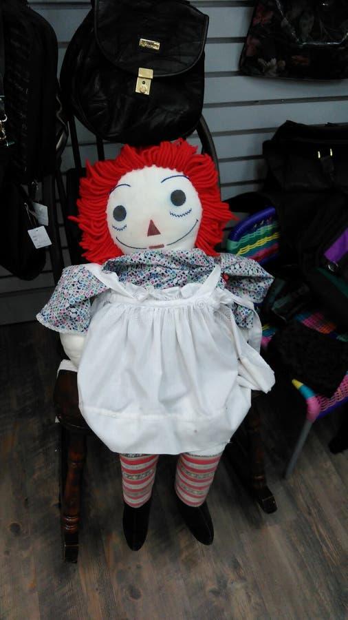 Αναδρομική κουρελιασμένη κούκλα της Ann στοκ εικόνες με δικαίωμα ελεύθερης χρήσης