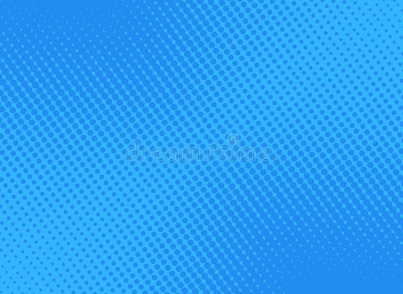 Αναδρομική κωμική μπλε κλίση ράστερ υποβάθρου ημίτοή, απόθεμα vect ελεύθερη απεικόνιση δικαιώματος