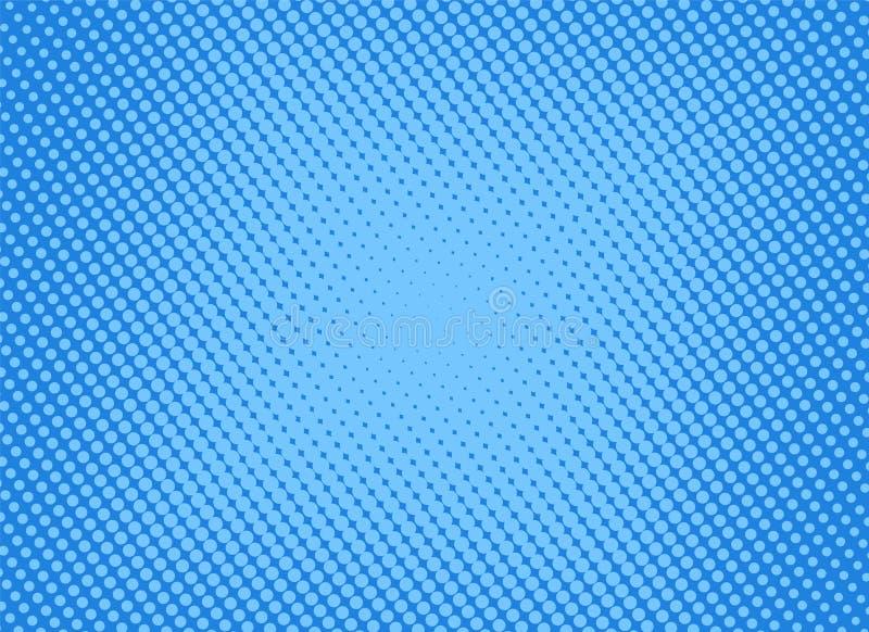 Αναδρομική κωμική μπλε κλίση ράστερ υποβάθρου ημίτοή, απόθεμα vect απεικόνιση αποθεμάτων