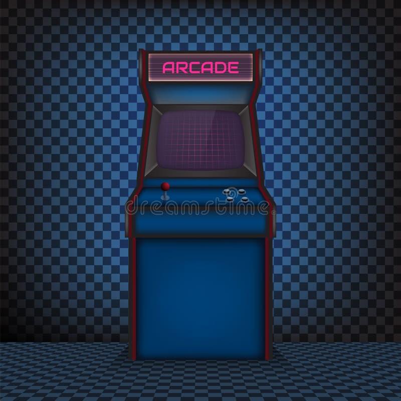 Αναδρομική μηχανή παιχνιδιών arcade απεικόνιση αποθεμάτων