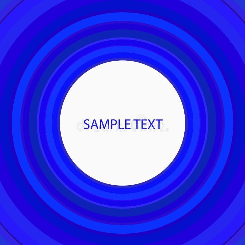 Αναδρομική μπλε κάλυψη κύκλων ελεύθερη απεικόνιση δικαιώματος