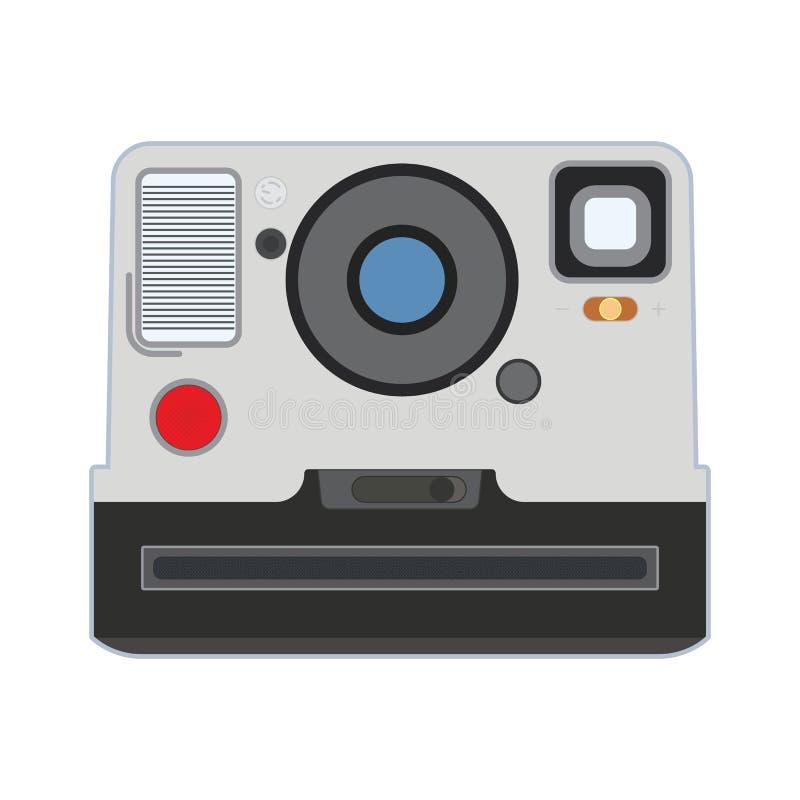Αναδρομική παλαιά κάμερα διανυσματικό eps10 φωτογραφιών polaroid ελεύθερη απεικόνιση δικαιώματος