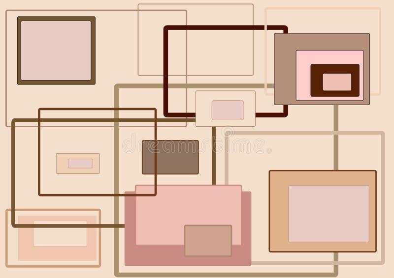 αναδρομική σύσταση διανυσματική απεικόνιση