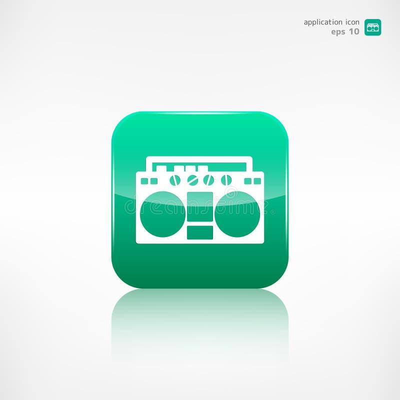 αναδρομική ταινία οργάνων &ka κουμπί εφαρμογής απεικόνιση αποθεμάτων