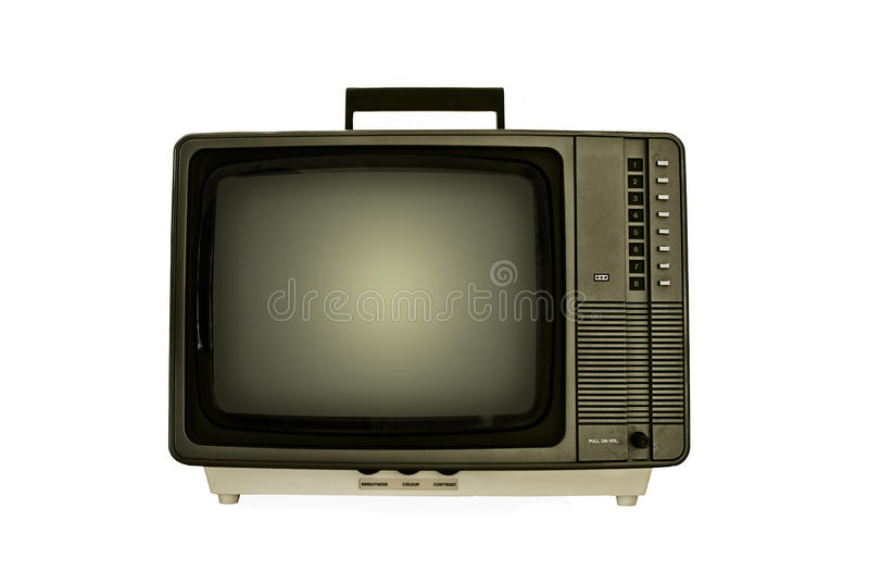 Αναδρομική τηλεόραση. στοκ φωτογραφία