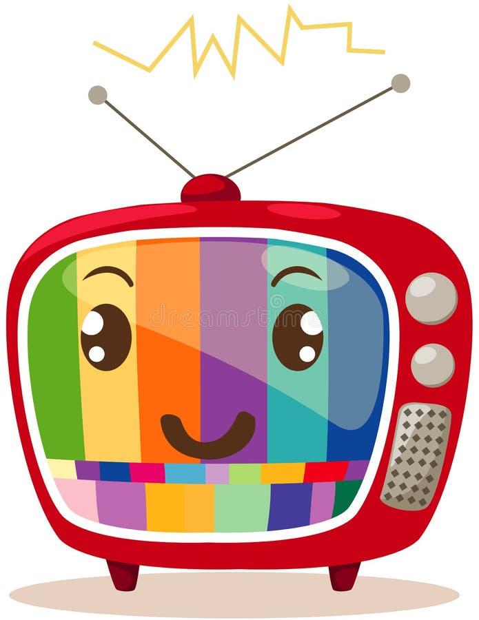 αναδρομική TV κινούμενων σχεδίων απεικόνιση αποθεμάτων
