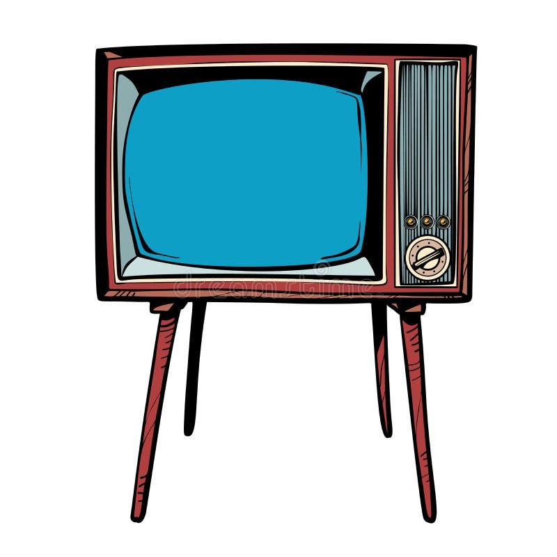 αναδρομική TV Τηλεοπτικές ειδήσεις και προγράμματα διανυσματική απεικόνιση