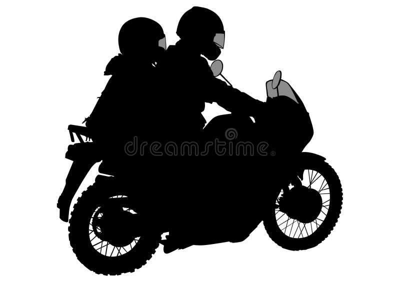 Αναδρομικοί ποδήλατο και οδηγός ένας ελεύθερη απεικόνιση δικαιώματος