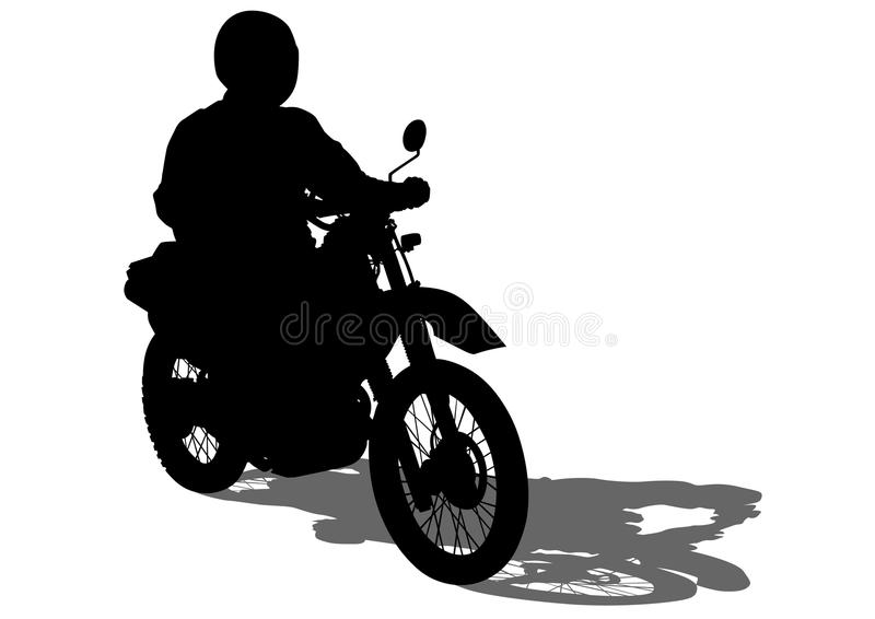 Αναδρομικοί ποδήλατο και οδηγός δύο απεικόνιση αποθεμάτων