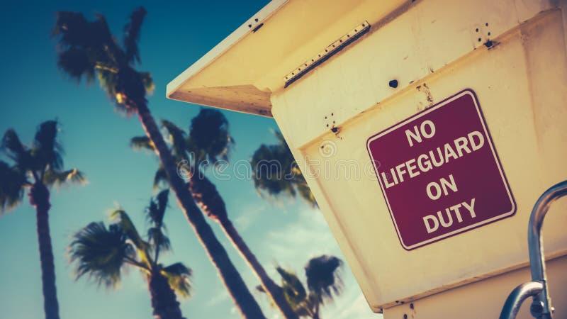 Αναδρομικός σταθμός Lifeguard ύφους καλιφορνέζικος στοκ εικόνες με δικαίωμα ελεύθερης χρήσης