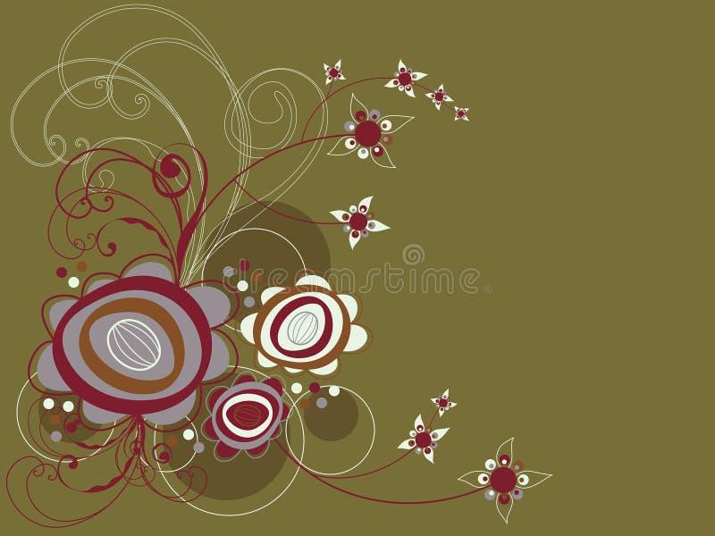 αναδρομικός στρόβιλος λουλουδιών μαργαριτών ελεύθερη απεικόνιση δικαιώματος