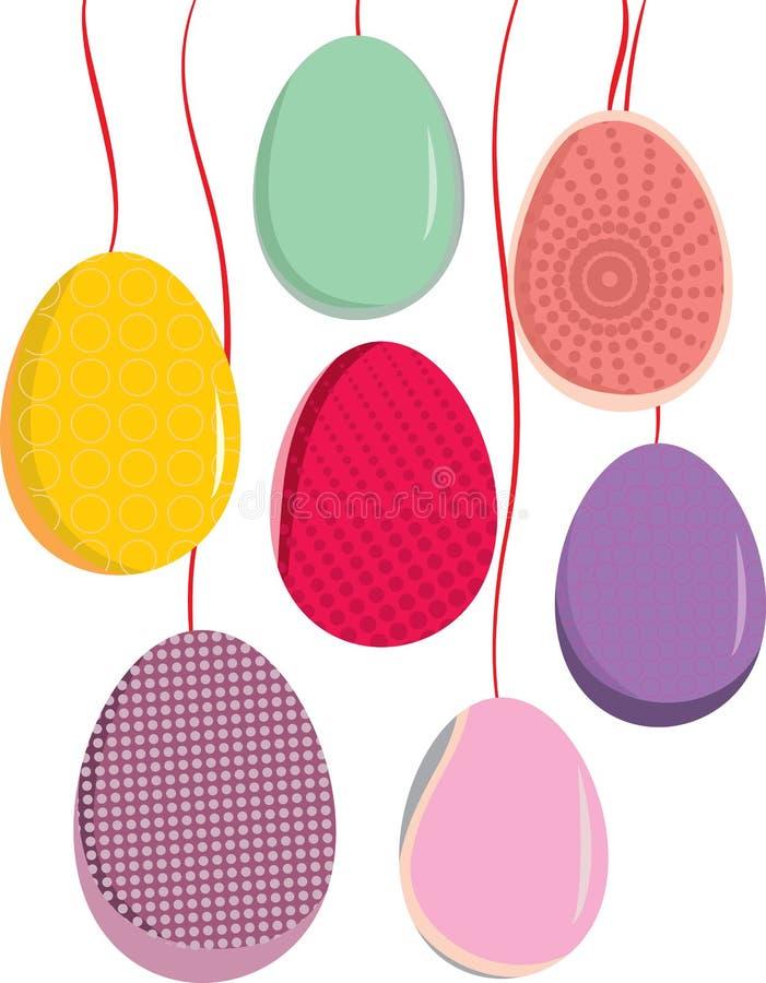 αναδρομικός τυποποιημένος αυγών Πάσχας απεικόνιση αποθεμάτων