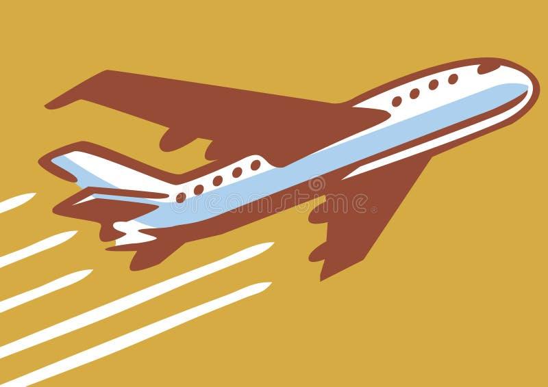 Αναδρομικό αεροπλάνο ελεύθερη απεικόνιση δικαιώματος