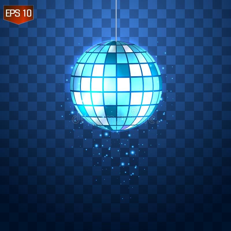 Αναδρομικό ασημένιο disco σύμβολο λεσχών σφαιρών διανυσματικό, λάμποντας της κατοχής της διασκέδασης, χορός, DJ που αναμιγνύει, ν ελεύθερη απεικόνιση δικαιώματος