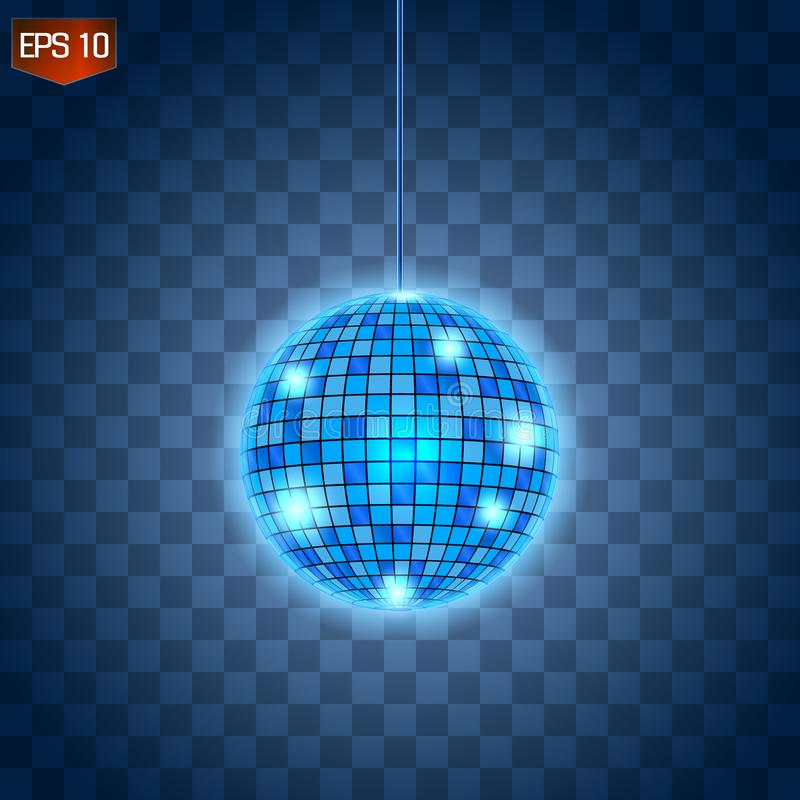 Αναδρομικό ασημένιο disco σύμβολο λεσχών σφαιρών διανυσματικό, λάμποντας της κατοχής της διασκέδασης, χορός, DJ που αναμιγνύει, ν διανυσματική απεικόνιση