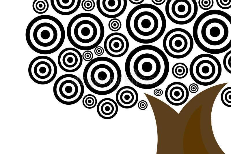 αναδρομικό δέντρο διανυσματική απεικόνιση