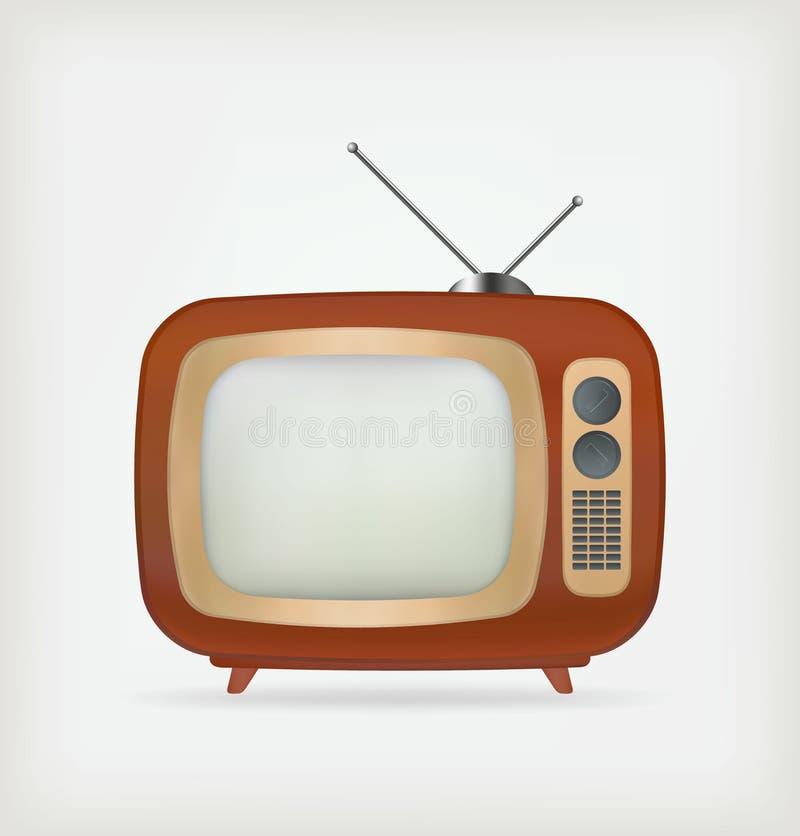Αναδρομικό διάνυσμα TV ελεύθερη απεικόνιση δικαιώματος