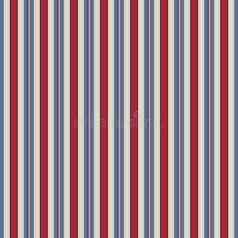 Αναδρομικό ΕΚΛΕΚΤΗΣ ΠΟΙΌΤΗΤΑΣ αμερικανικού χρώματος σχέδιο λωρίδων ύφους άνευ ραφής Περίληψη απεικόνιση αποθεμάτων