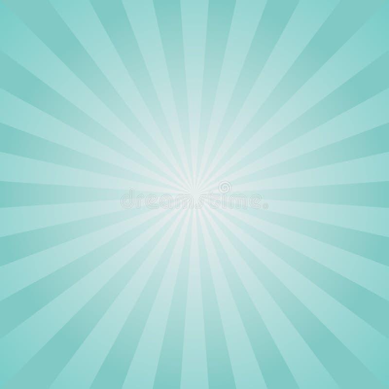 Αναδρομικό εξασθενισμένο υπόβαθρο φωτός του ήλιου Χλωμός - μπλε υπόβαθρο έκρηξης χρώματος αφηρημένο διάνυσμα απεικόνισης φαντασία απεικόνιση αποθεμάτων