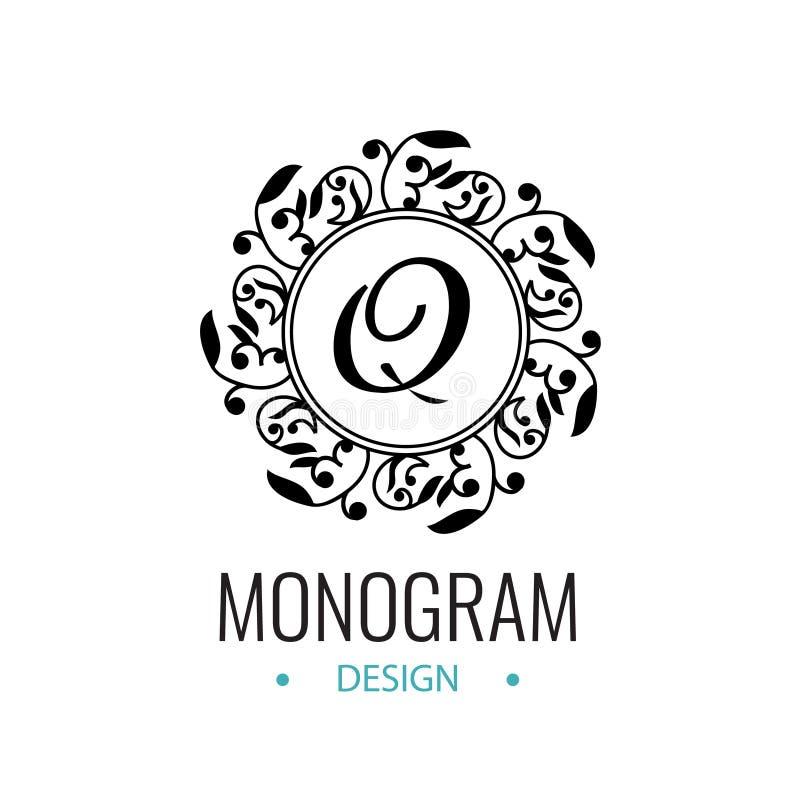 Αναδρομικό λογότυπο για τους καφέδες, φραγμοί, εστιατόρια, προσκλήσεις στο γάμο διανυσματική απεικόνιση