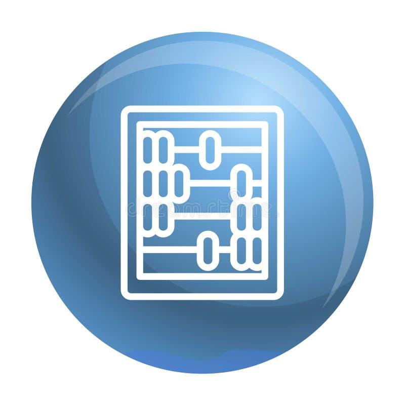 Αναδρομικό ξύλινο εικονίδιο υπολογιστών, ύφος περιλήψεων διανυσματική απεικόνιση