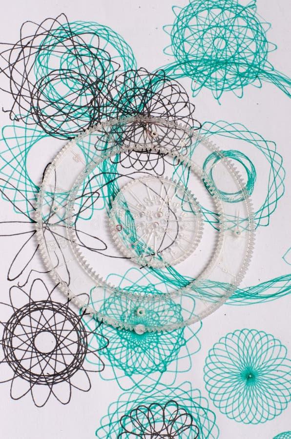 Αναδρομικό παιχνίδι Spirograph στοκ φωτογραφία με δικαίωμα ελεύθερης χρήσης