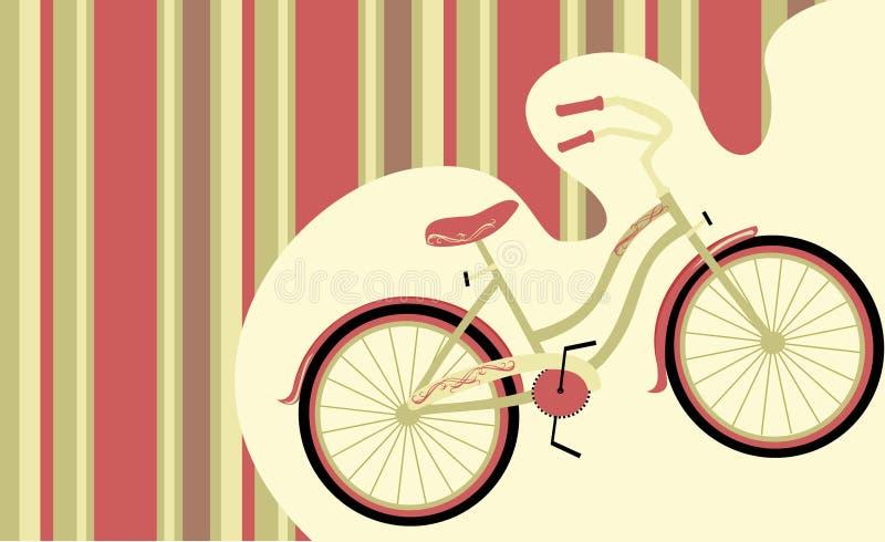Αναδρομικό ποδήλατο διανυσματική απεικόνιση