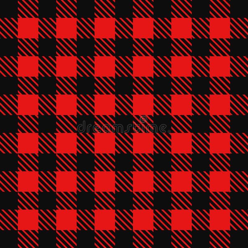 Αναδρομικό πουκάμισο κάουμποϋ υποβάθρου κόκκινο διανυσματική απεικόνιση