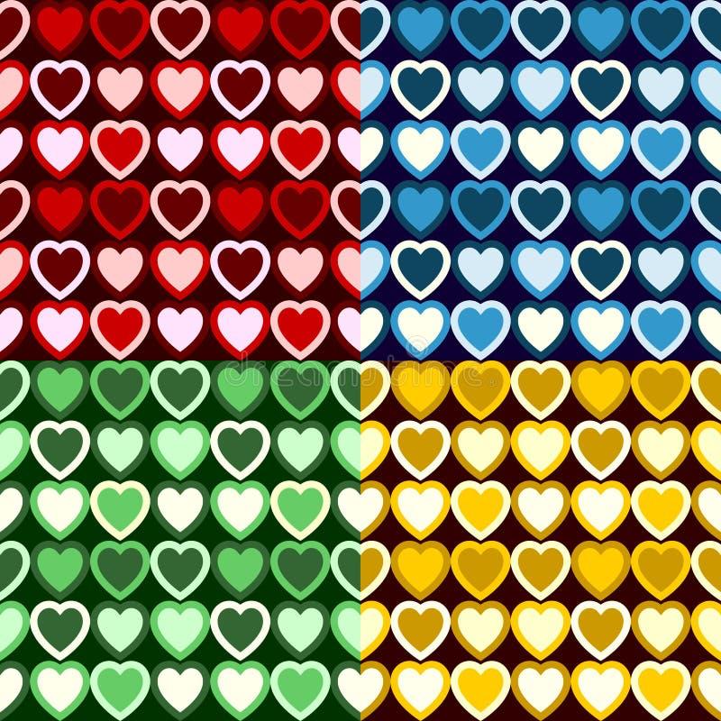 Αναδρομικό πρότυπο καρδιών ελεύθερη απεικόνιση δικαιώματος