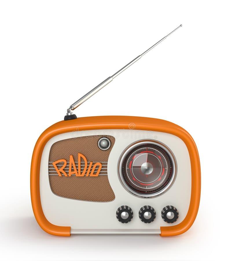 Αναδρομικό ραδιόφωνο διανυσματική απεικόνιση