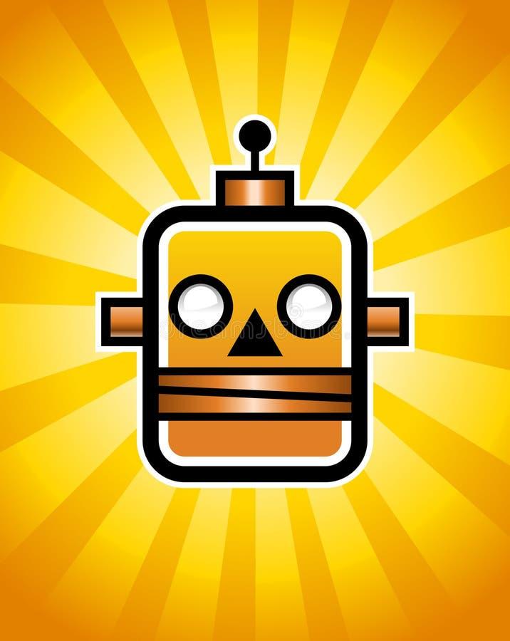 αναδρομικό ρομπότ ελεύθερη απεικόνιση δικαιώματος