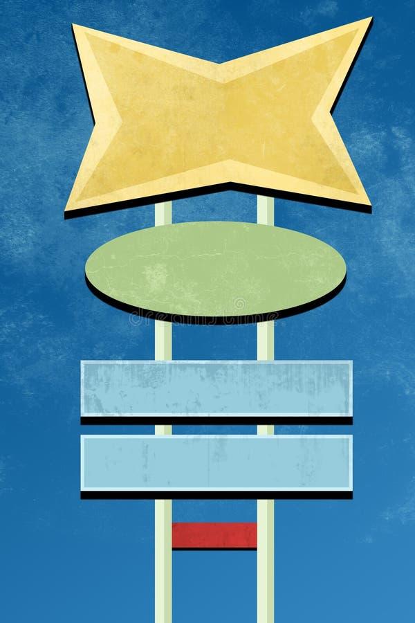 αναδρομικό σημάδι σχεδίο&up απεικόνιση αποθεμάτων