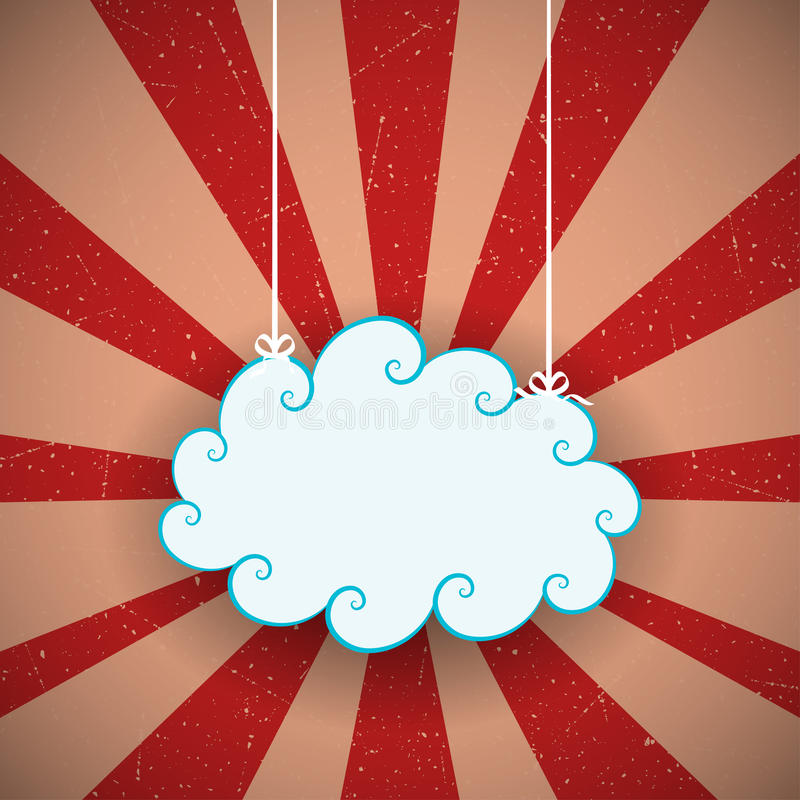 Αναδρομικό σύννεφο διανυσματική απεικόνιση