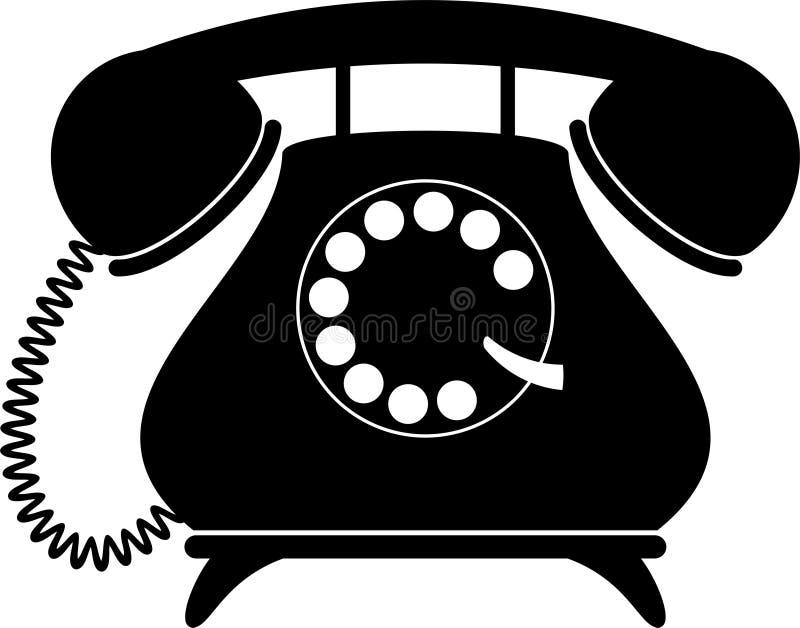 αναδρομικό τηλέφωνο σκια διανυσματική απεικόνιση