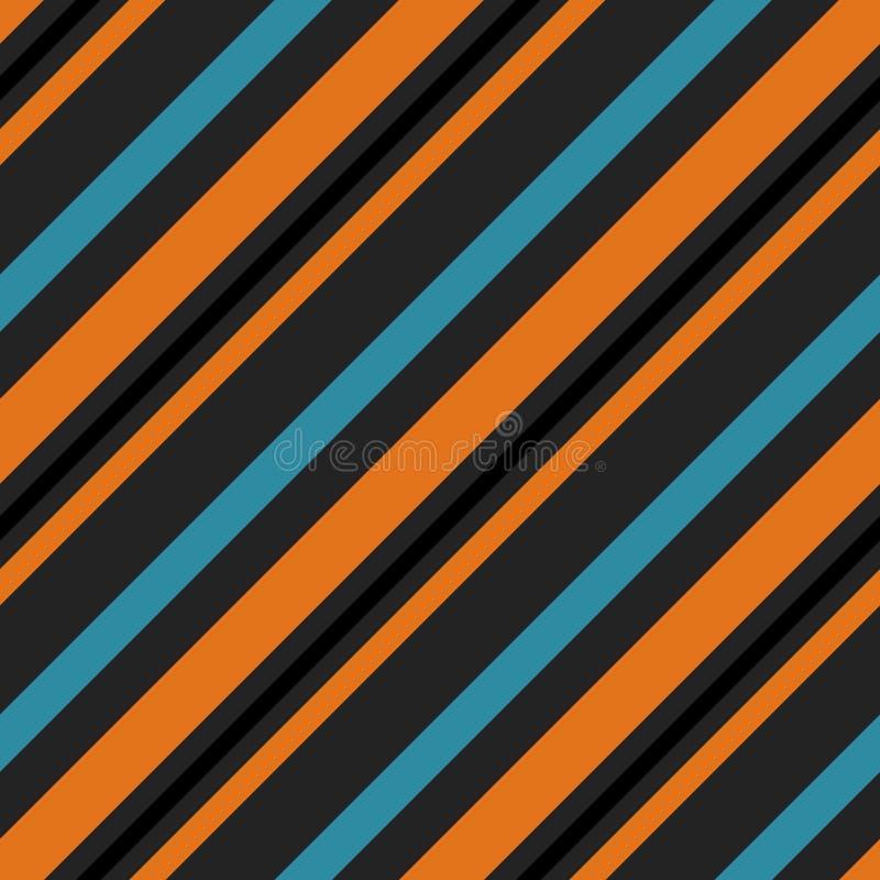 Αναδρομικό φωτεινό ζωηρόχρωμο άνευ ραφής σχέδιο λωρίδων r Μοντέρνα χρώματα απεικόνιση αποθεμάτων