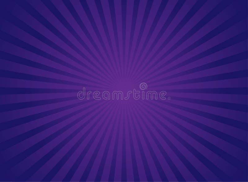 Αναδρομικό φωτεινό υπόβαθρο φωτός του ήλιου Πορφυρό και ιώδες υπόβαθρο έκρηξης χρώματος απεικόνιση αποθεμάτων