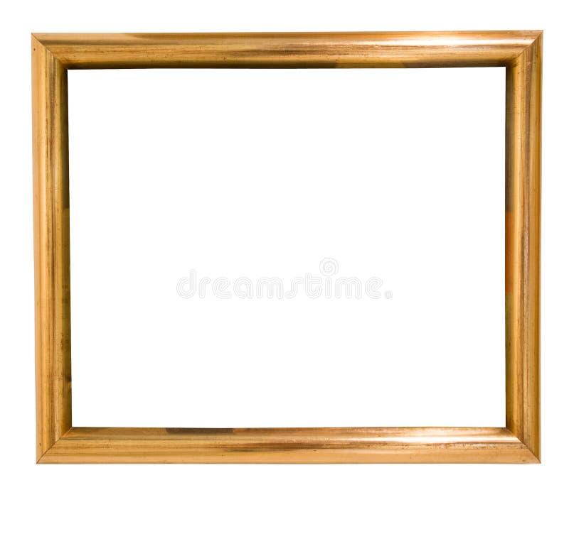 Αναδρομικό χρυσό ορθογώνιο πλαίσιο για τη φωτογραφία στο απομονωμένο υπόβαθρο στοκ φωτογραφία