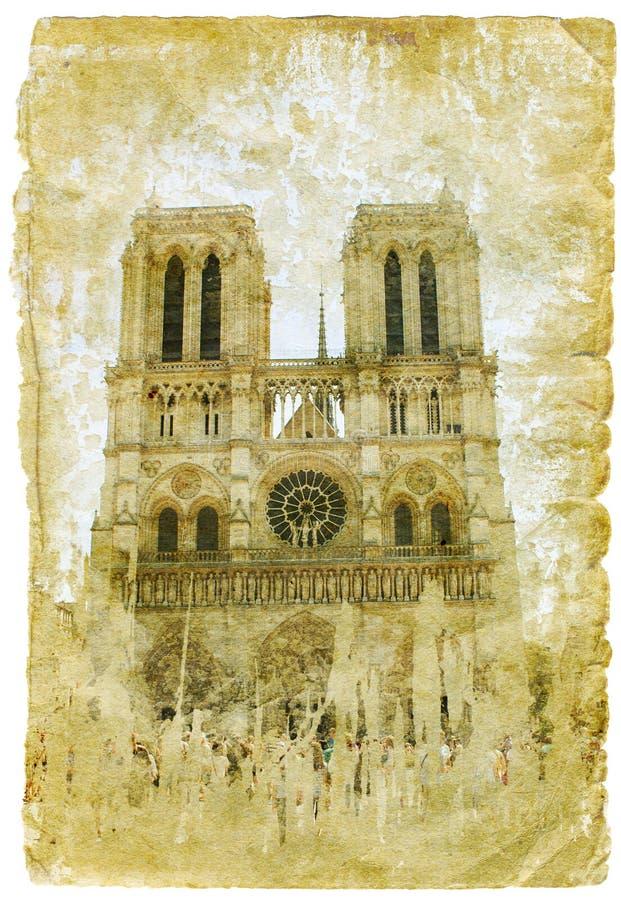 αναδρομικό ύφος εικόνων της Γαλλίας ελεύθερη απεικόνιση δικαιώματος