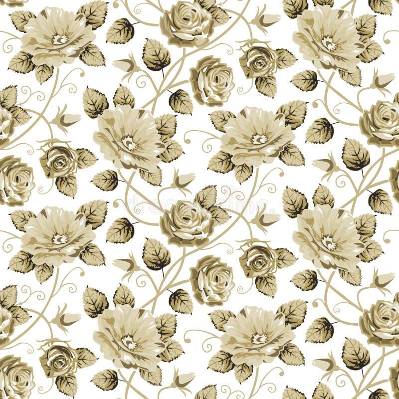 Αναδρομικό floral πρότυπο απεικόνιση αποθεμάτων