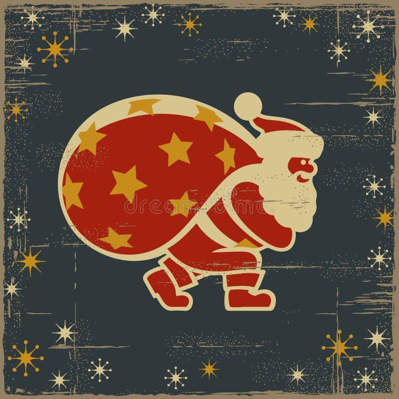 αναδρομικό santa Claus απεικόνιση αποθεμάτων