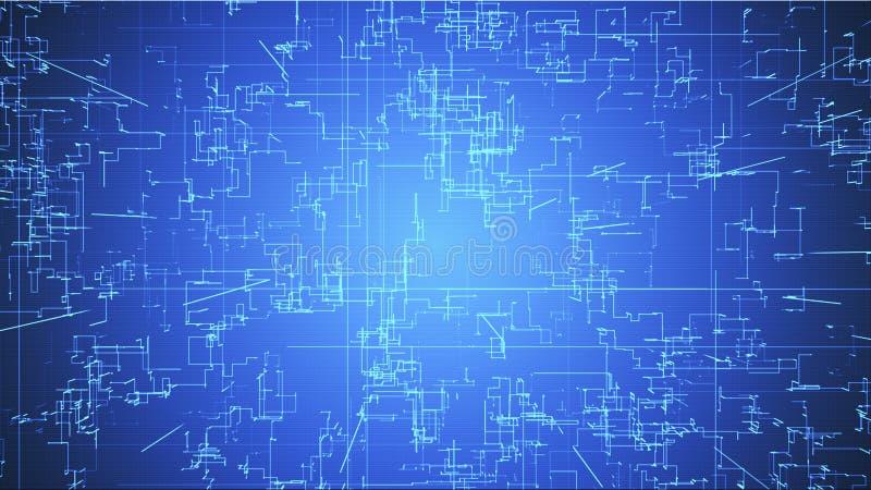 Αναδυόμενες συνδέσεις, αγωγοί και νευρικά σήματα πέρα από το κλιμακωτό καμμένος υπόβαθρο απεικόνιση αποθεμάτων