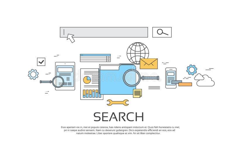 Αναζήτησης καθορισμένο εικονίδιο τεχνολογίας πληροφοριών σε απευθείας σύνδεση απεικόνιση αποθεμάτων